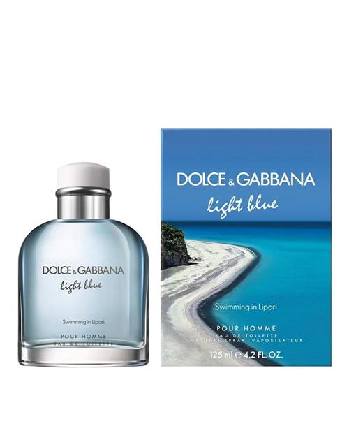 D G DOLCE   GABBANA LIGHT BLUE SWIMMING IN LIPARI EDT FOR MEN ... 8515a13e40