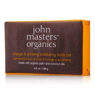 JOHN MASTERS ORGANICS ORANGE & GINSENG EXFOLIATING BODY BAR 128G/4.5OZ