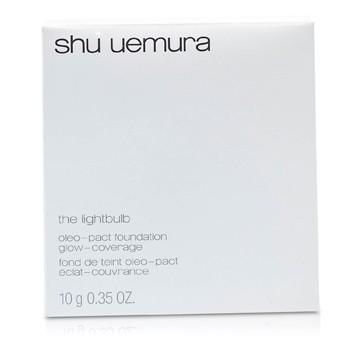SHU UEMURA THE LIGHTBULB OLEO PACT FOUNDATION (CASE + REFILL) - # 754 MEDIUM BEIGE 10G/0.35OZ