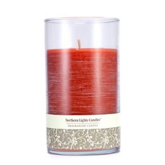 NORTHERN LIGHTS CANDLES FRAGRANCED CANDLE - SPICED APPLE 6 INCH