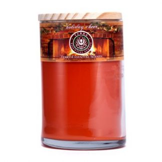 TERRA ESSENTIAL SCENTS HAND-POURED SOY CANDLE - HOLIDAY CHEER 12OZ