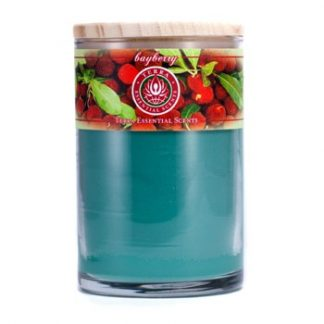 TERRA ESSENTIAL SCENTS HAND-POURED SOY CANDLE - BAYBERRY 12OZ