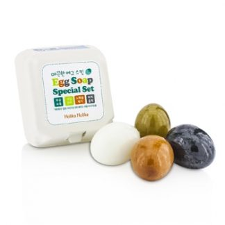 HOLIKA HOLIKA EGG SKIN SOAP SPECIAL SET: CHARCOAL EGG + WHITE EGG + RED CLAY EGG + GREEN TEA EGG 4X50G/1.7OZ