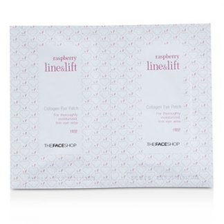 THE FACE SHOP RASPBERRY LINE & LIFT COLLAGEN EYE PATCH 10PCS