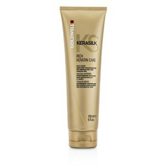 GOLDWELL KERASILK RICH KERATIN CARE DAILY MASK - SMOOTHING TRANSFORMATION (FOR UNMANAGEABLE AND DAMAGED HAIR) 150ML/5OZ