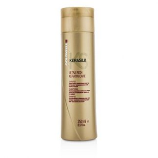GOLDWELL KERASILK ULTRA RICH KERATIN CARE SHAMPOO - SMOOTHING TRANSFORMATION (FOR EXTREMELY UNMANAGEABLE AND DAMAGED HAIR) 250ML/8.5OZ
