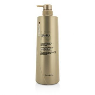 GOLDWELL KERASILK PURIFYING SHAMPOO - SMOOTHING TRANSFORMATION (FOR ALL HAIR TYPES) 1000ML/33.8OZ