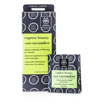 APIVITA EXPRESS BEAUTY INTENSIVE HYDRATION MASK WITH CUCUMBER 6X(2X8ML)