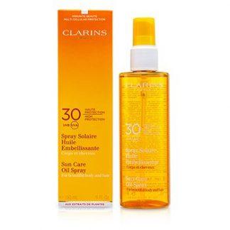 CLARINS SUN CARE OIL SPRAY SPF 30 HIGH PROTECTION FOR BODY & HAIR 150ML/5OZ