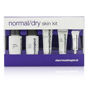 DERMALOGICA NORMAL/ DRY SKIN KIT: CLEANSER + TONER + SMOOTHING CREAM + EXFOLIANT + EYE REAPIR 5PCS