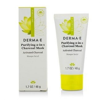 DERMA E PURIFYING 2-IN-1 CHARCOAL MASK 48G/1.7OZ