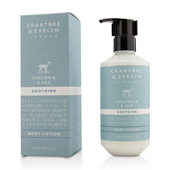 CRABTREE & EVELYN GOATMILK & OAT SOOTHING BODY LOTION 250ML/8.5OZ