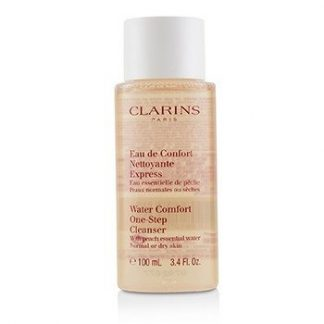 CLARINS WATER COMFORT ONE-STEP CLEANSER WITH PEACH ESSENTIAL WATER - FOR NORMAL OR DRY SKIN 100ML/3.4OZ