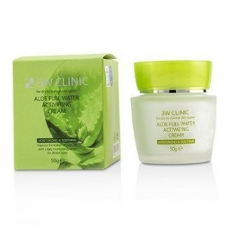 3W CLINIC ALOE FULL WATER ACTIVATING CREAM - FOR DRY TO NORMAL SKIN TYPES 50G/1.7OZ