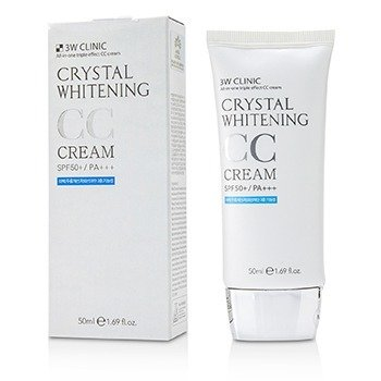 3W CLINIC CRYSTAL WHITENING CC CREAM SPF 50+/PA+++ - #01 GLITTER BEIGE 50ML/1.69OZ