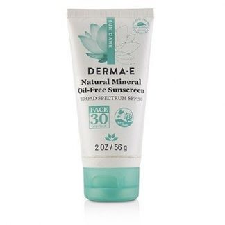 DERMA E NATURAL MINERAL OIL-FREE SUNSCREEN BROAD SPECTRUM SPF 30 - FACE (UNBOXED) 56G/2OZ