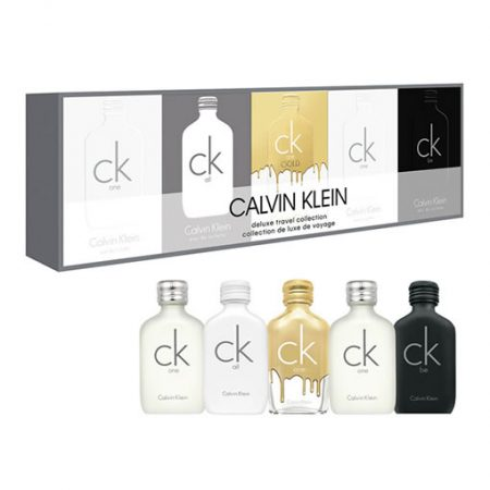 CALVIN KLEIN CK DELUXE TRAVEL COLLECTION 5 PCS GIFT SET FOR UNISEX