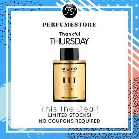 UNGARO POUR L'HOMME III OUD EDT FOR MEN 100ML [THANKFUL THURSDAY SPECIAL]