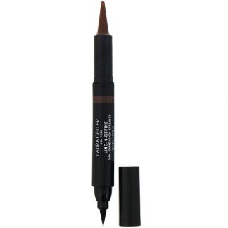 Laura Geller, Line-N-Define, Dual Dimensional Eyeliner, Liquid & Kohl Eyeliner, Black/Brown, 0.07 fl oz (2 ml) / 0.017 oz (0.5 g)