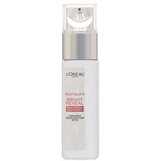 L'Oreal, Revitalift Bright Reveal, Brightening Day Moisturizer, SPF 30, 1 fl oz (30 ml)