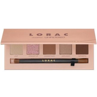 Lorac, Unzipped Unfiltered Eye Shadow Palette with Dual-Ended Brush, 0.37 oz (10.5 g)