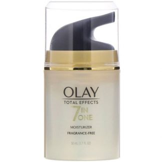 Olay, Total Effects, 7-in-One Moisturizer, Fragrance-Free, 1.7 fl oz (50 ml)