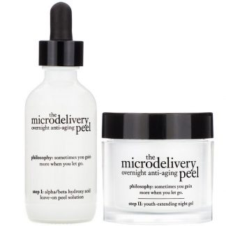 Philosophy, The Microdelivery, Overnight Anti-Aging Peel, 2 Step Kit