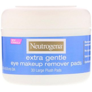 Neutrogena, Extra Gentle, Eye Makeup Remover Pads, 30 Large Plush Pads