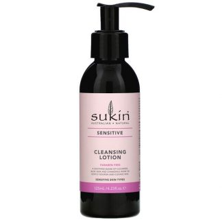 Sukin, Cleansing Lotion, Sensitive, 4.23 fl oz (125 ml)