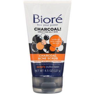 Biore, Charcoal Acne Scrub, 4.5 oz (127 g)