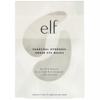 E.L.F., Charcoal Hydrogel Under Eye Masks, 3 Piece Set