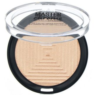 Maybelline, Master Chrome, Metallic Highlighter, Molten Gold 100, 0.24 oz (6.7 g)