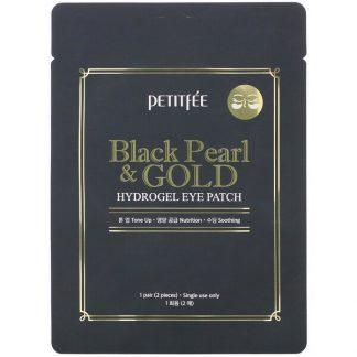 Petitfee, Black Pearl & Gold, Hydrogel Eye Patch, 1 Pair