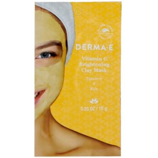 Derma E, Vitamin C Brightening Clay Mask, Turmeric & Kale, 0.35 oz (10 g)