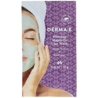 Derma E, Firming Magnetic Clay Mask, Adzuki Beans & Spearmint, 0.35 oz ( 10 g)
