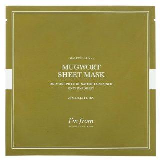 I'm From, Mugwort Sheet Mask, 1 Sheet, 0.67 fl oz (20 ml)