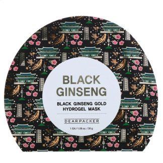 Dear Packer, Black Ginseng, Black Ginseng Gold Hydrogel Mask, 1 Sheet, 1.06 oz (30 g)
