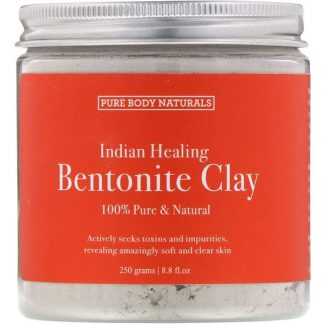 Pure Body Naturals, Indian Healing Bentonite Clay, 8.8 fl oz (250 g)