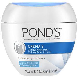 Pond's, Crema S, 24 Hour Moisturizer, 14.1 oz (400 g)