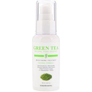 Tosowoong, Green Tea Natural Pure Essence, Brightening Treatment, 2.02 fl oz (60 ml)