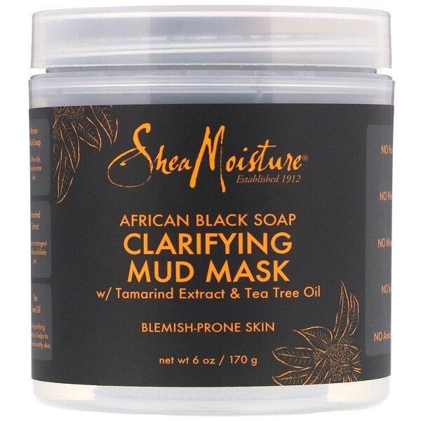 SheaMoisture, Clarifying Mud Mask, African Black Soap, 6 oz (170 g)
