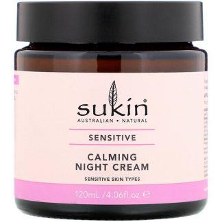 Sukin, Calming Night Cream, Sensitive, 4.06 fl oz (120 ml)