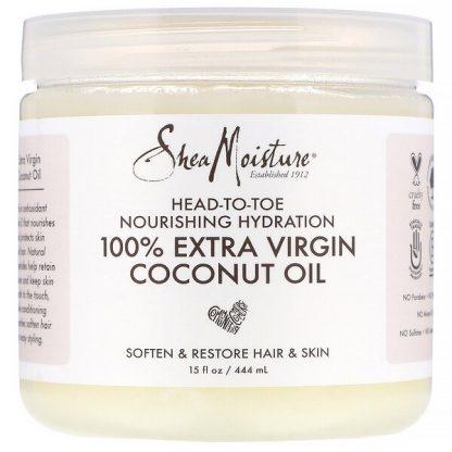 SheaMoisture, Head-To-Toe Nourishing Hydration, 100% Extra Virgin Coconut Oil, 15 fl oz (444 ml)