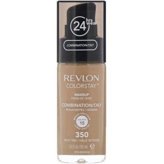 Revlon, Colorstay, Makeup, Combination/Oily, 350 Rich Tan, 1 fl oz (30 ml)