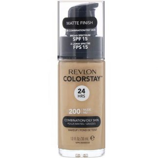 Revlon, Colorstay, Makeup, Combination/Oily, 200 Nude, 1 fl oz (30 ml)