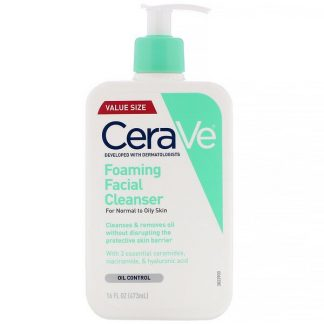 CeraVe, Foaming Facial Cleanser, For Normal to Oily Skin, 16 fl oz (473 ml)