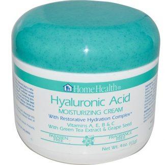 Home Health, Hyaluronic Acid, Moisturizing Cream with Restorative Hydration Complex, 4 oz (113 g)