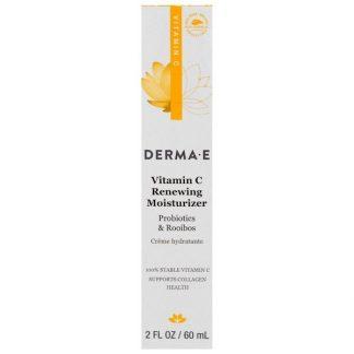 Derma E, Vitamin C Renewing Moisturizer, Probiotics & Rooibos, 2 fl oz (60 ml)