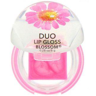 Blossom, Duo Lip Gloss, Magenta Flower, 0.28 oz (8 g)