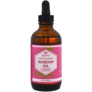 Leven Rose, 100% Pure & Organic Rosehip Oil, 4 fl oz (118 ml)